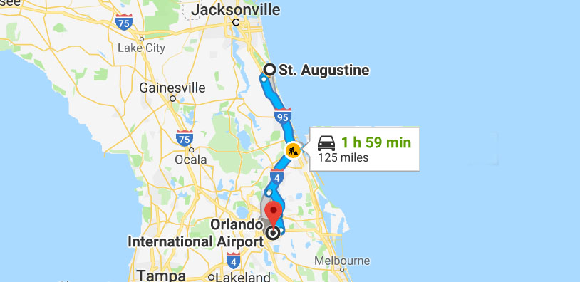St Augustine Taxi Service To Orlando Airport